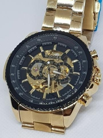Relógio Automático Winner Tm428 Squeleton Importado