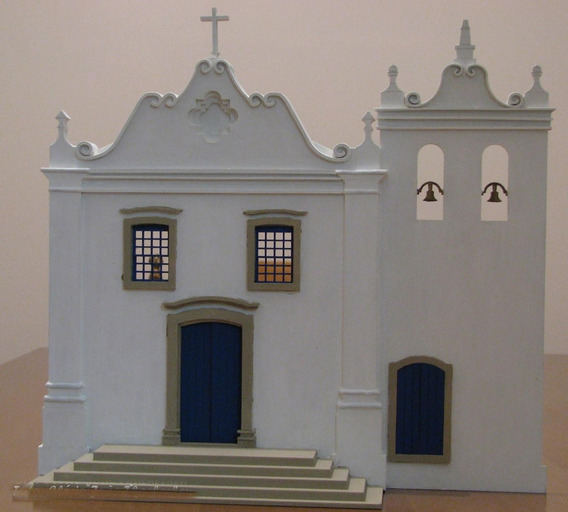 Maquete Frontal De Igreja Mdf Detalhada