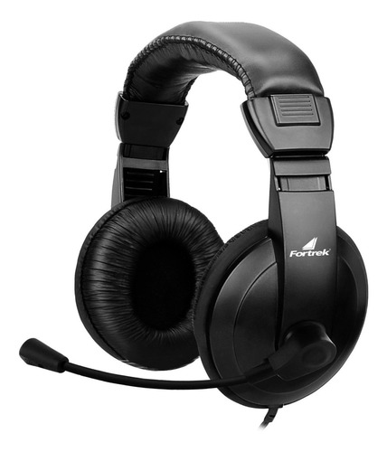 Fone Headset Com Microfone Multimídia Hsl-102 Preto Fortrek