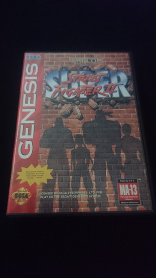Super Street Fighter Original Pra Sega Genesis/ Mega Drive