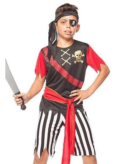 Fantasia Roupa Príncipe Infantil Menino Pirata Caribe 2 A 12