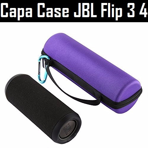 Case Capa Pra Jbl Flip 3 4 Rígida (transporta Acessórios)