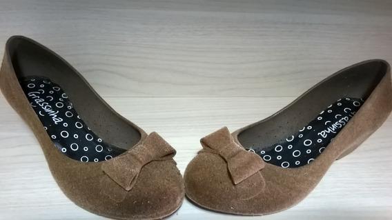 Sapato Barbara Kras Em Camurça Ameixa Na Caixa Número 35