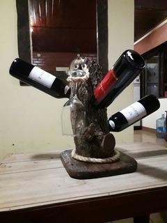 Vinoteca En Madera Rustica