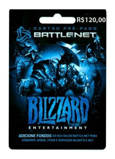 Cartão Blizzard Battle.net R$120 Wow Overwatch Hearthstone
