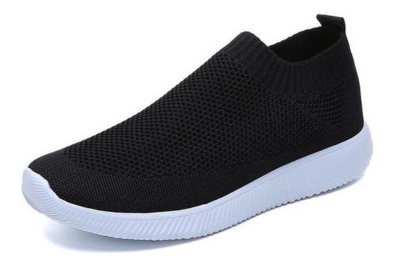 Mulheres Sapatos 2019 Malha Deslizamento Em Sapatos Lisos Fe