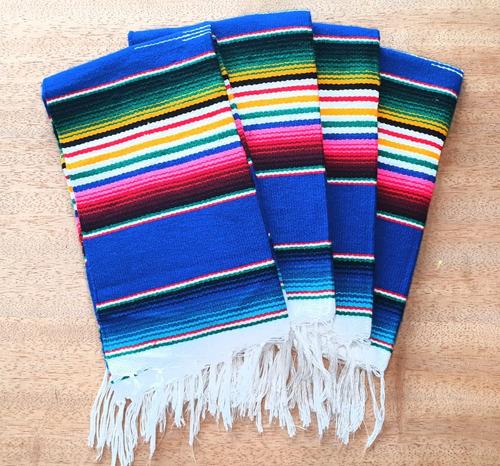 Jogo Americano Manta Mexicana De Tear Kit Com 4 - Varal
