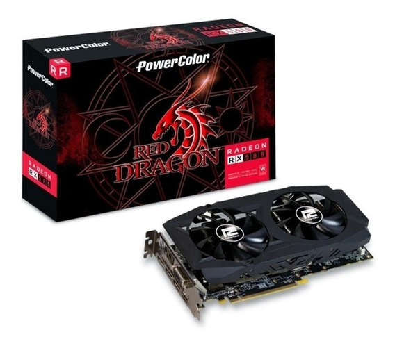 Placa De Video Red Dragon Rx580 8gb Gddr5 256bits Powercolor