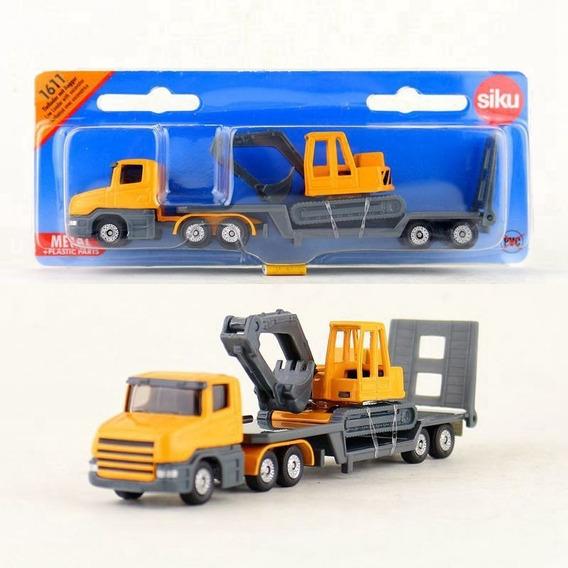 Camion Scania Con Retroexcavadora - Siku Series 16