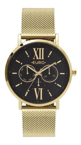 Relógio Feminino Euro Dourado Eu6p29ahcbp/4p