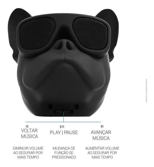 Caixa De Som Portátil 10w Bluetoot Bulldog Aux Touch Sd