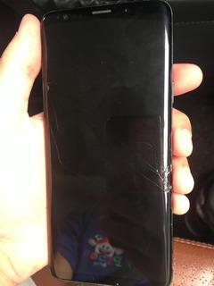 Celular Samsung S9plus 128 Gb Preto / 1 Ano/ Detalhe Na Tela