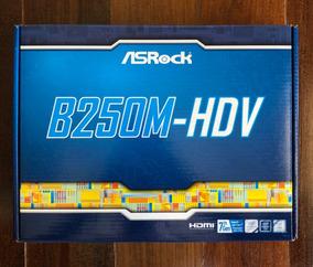 Placa-mãe Asrock B250m-hdv, Intel Lga 1151, Matx, Ddr4