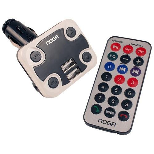 Imagen 1 de 3 de Adaptador Bluetooth Mp3 A Fm Noga Ng-26 12v Remoto Usb Auto