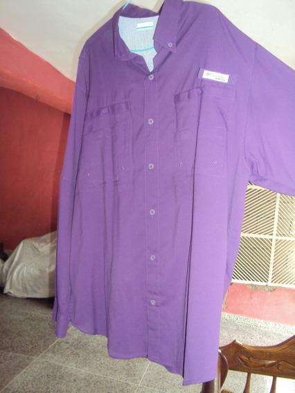 Camisa Columbia Pfg Omni -shade Made In Vietnam