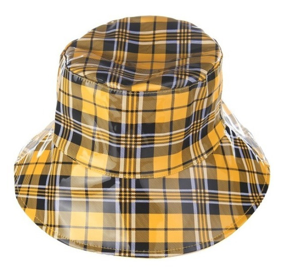 Gorro Piluso Impermeable Lluvia Cuadros Calidad Hombre Mujer