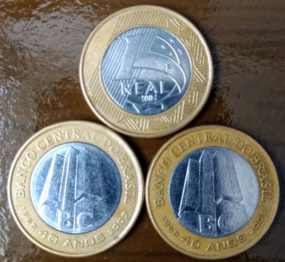 Moeda 1 Real Comemorativa Banco Central 40 Anos