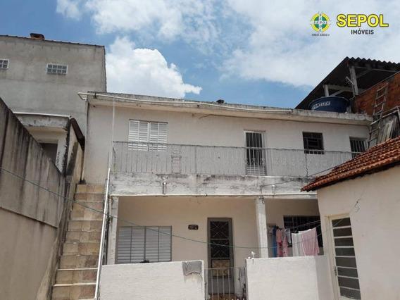 Casa Com 1 Dormitório Para Alugar Por R$ 790/mês - Jardim São Pedro - São Paulo/sp - Ca0426
