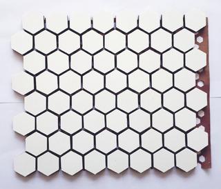 Malla Revestimiento Ceramica Hexagono 34x34mm Piso Pared
