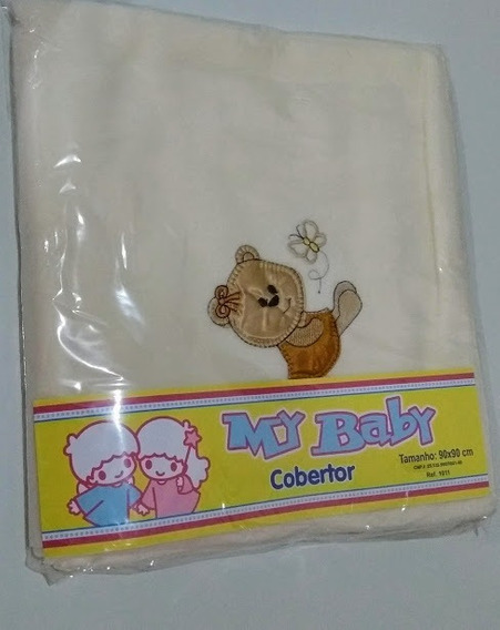 3 Cobertor Manta Malha Soft Bebe Infantil P Menino Menina
