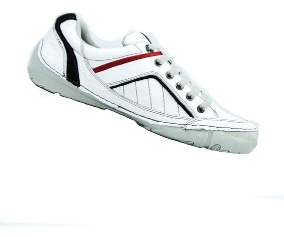 Sapatênis Masc. Couro Fork Footwear Trix Branco 21373-5