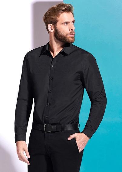 Camisas Negro 1431834 Ferrato
