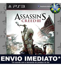 Jogo Ps3 Assassins Creed Iii Psn Play 3 Mídia Digital