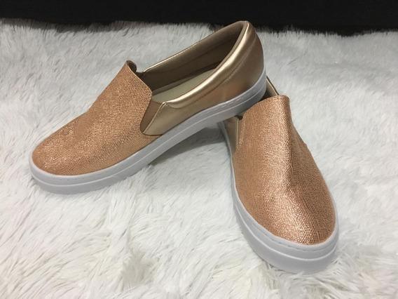 Sliper On Tenis Calçados Femininos Glitter Frete Gratis