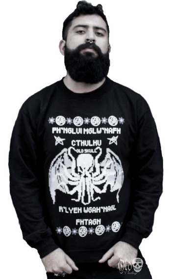 Ugly Sueter Sudadera Navideño Hombre - Cthulhu - Terror Goth