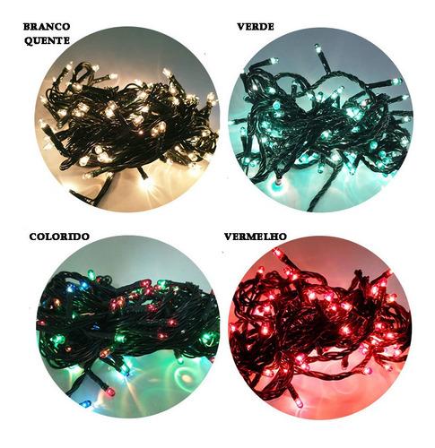 Pisca Pisca Led 100 Lâmpadas Decoração 8 Funções 5m- Escolha