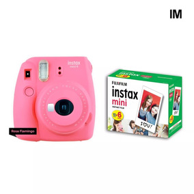 Camera Instax Fuji Mini 9 Rosa Flamingo + 60 Fotos