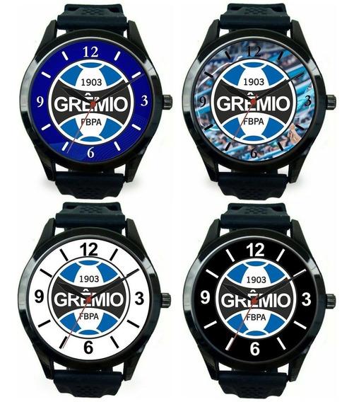 Kit 4 Relógios Pulso Grêmio Masculino Barato Esportivo