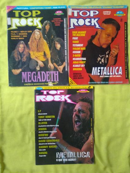 Revistas Top Rock - Números 10, 17 ,27 .