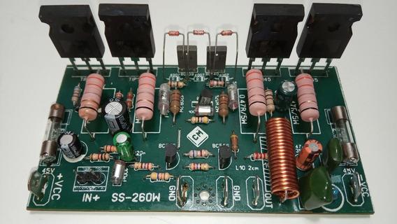 Placa Montada Amplificador 250w Rms Tip142 Tip147 Mono