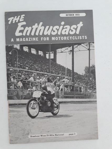 Revista Antiga Livreto De Motocicletas Harley Davidson 1955