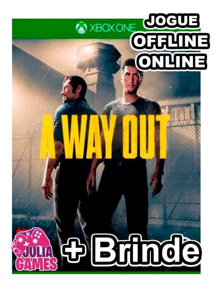 A Way Out Xbox One Midia Digital + 1 Jogo De Brinde