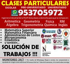 Clases Matemáticas Domicilio+ Solución Trabajo Universitario