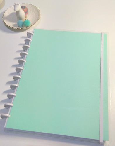Imagem 1 de 7 de Caderno De Discos Coleçao Pastel  A4 + 1 Refil