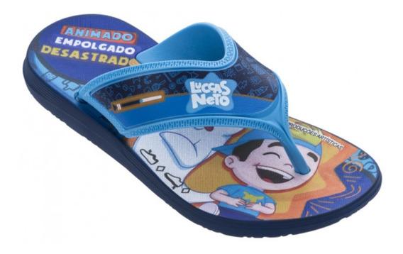 Chinelo Sandália Infantil Luccas Neto Azul Grendene Kids