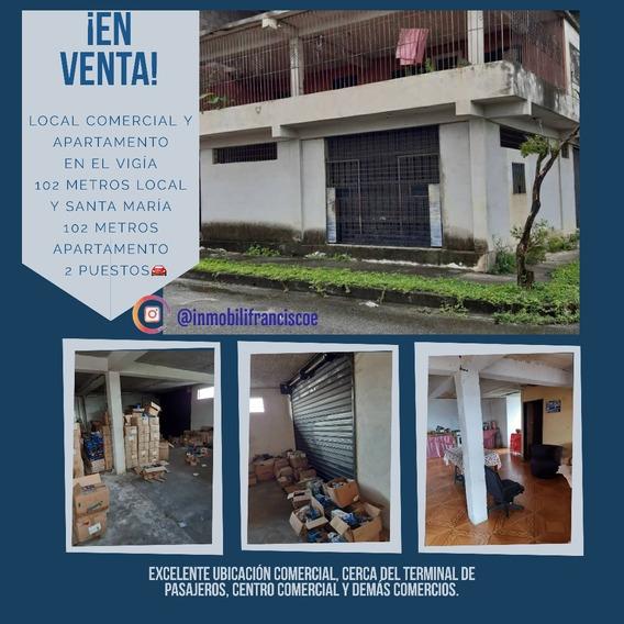 Local Comercial Y Apartamento En El Vigía