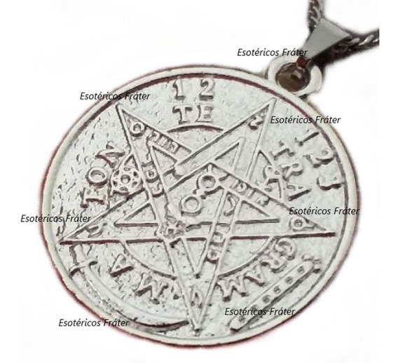 Pentagrama Esotérico Tetragrammaton Pingente Dupla Face Wicca