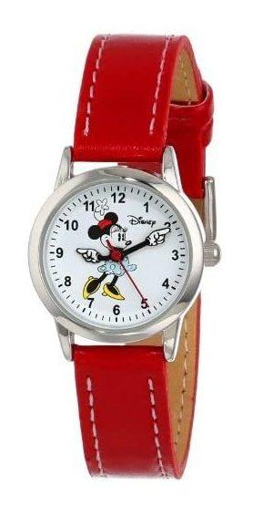 Reloj Disney Para Mujer, Pulsera De Piel Minnie Mouse