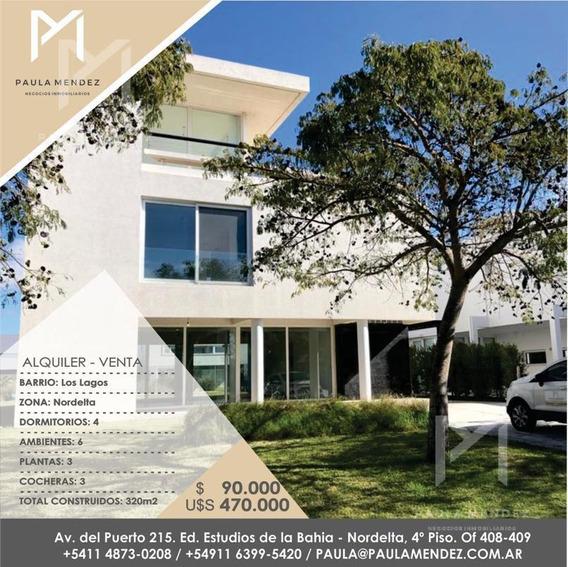 Casa - Venta - Alquiler - 6 Ambientes - Los Lagos - Nordelta - Tigre - Zona Norte -