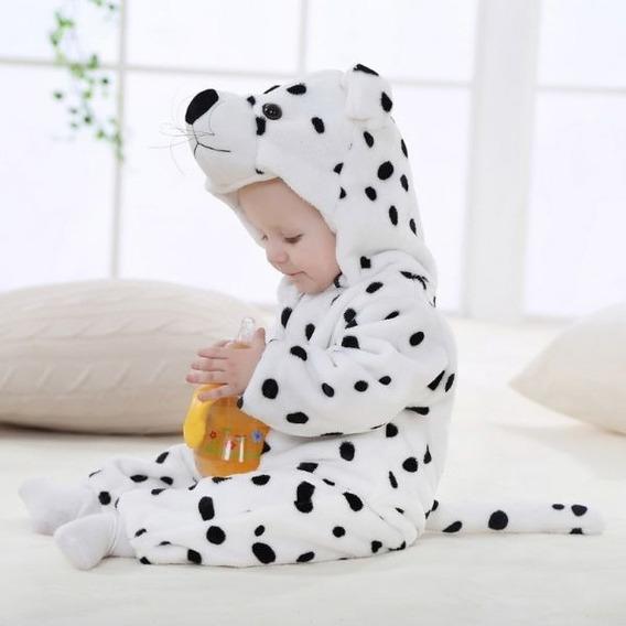 Macacão Bebê Bichinho Fantasia Dálmata Pijama Plush Quente