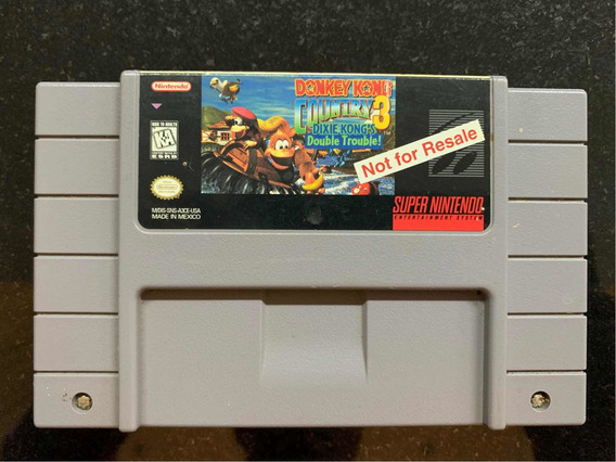 Donkey Kong Country 3 Snes Not For Resale Super Nintendo Nfr