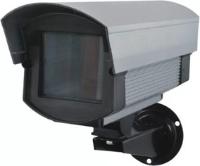 Caixa Para Proteção De Câmera Cftv Anodizada 220mm Média