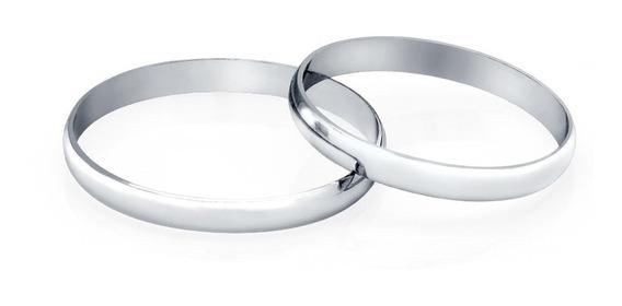 Aliança De Casamento Em Ouro Branco 18k 2.1mm Feminina Ta21