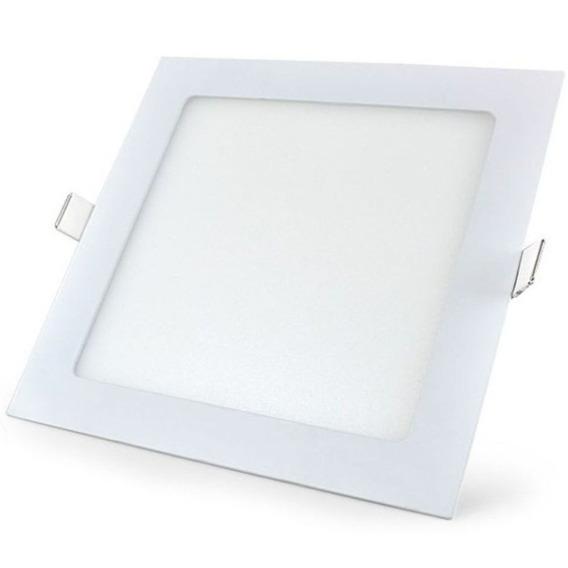 Painel Plafon Led 12w Luminária Quadrado Ultra Slim Embutir