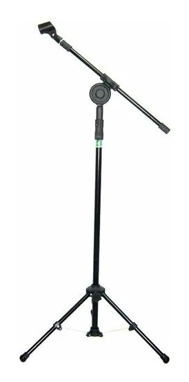 Pedestal Microfone Para 1 Microfone C/ Cachimbo Profissional