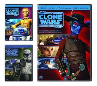 Star Wars The Clone Wars Temporada 4 Vol 1 2 3 Paquete Dvd